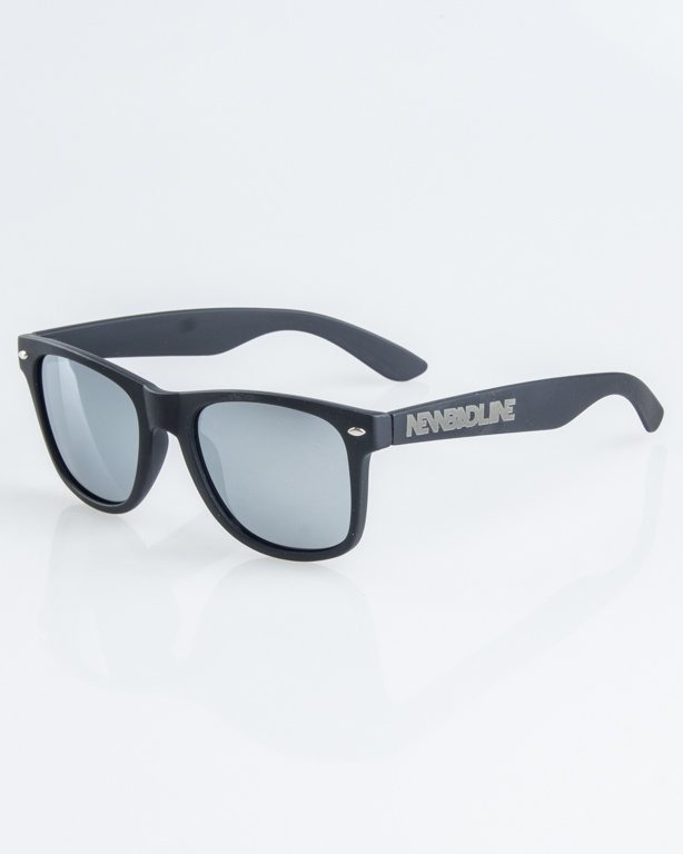 OKULARY CLASSIC POLARIZED BLACK RUBBER  SILVER MIRROR 1256