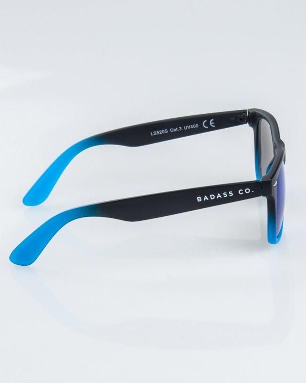 OKULARY CLASSIC TONAL BLACK-BLUE MAT BLUE MIRROR 1226