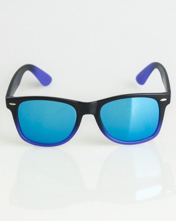 OKULARY CLASSIC TONAL BLACK-NAVY MAT BLUE MIRROR 1350