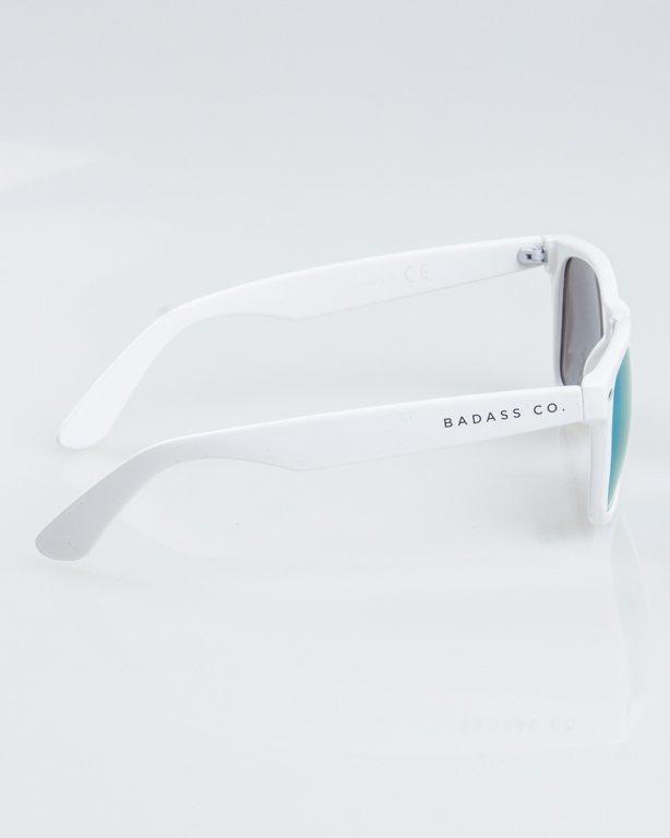 OKULARY CLASSIC WHITE FLASH YELLOW MIRROR 1234