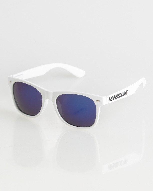 OKULARY CLASSIC WHITE MAT BLUE MIRROR 010