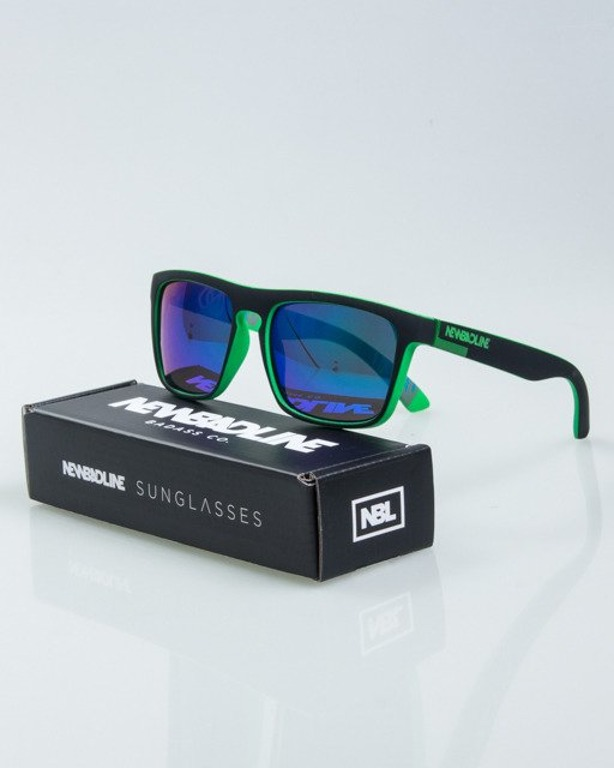 OKULARY COMIX BLACK-GREEN RUBBER GREEN MIRROR POLARIZED 1020
