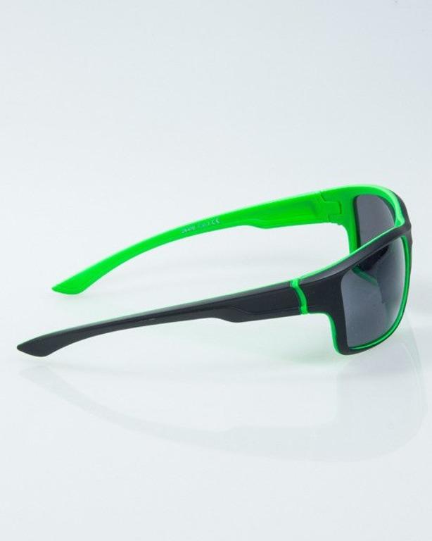 OKULARY EXEMPLAR INSIDE BLACK-GREEN RUBBER BLACK 1016