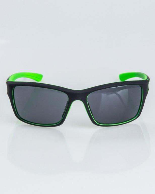 OKULARY EXEMPLAR INSIDE BLACK-GREEN RUBBER BLACK 1238