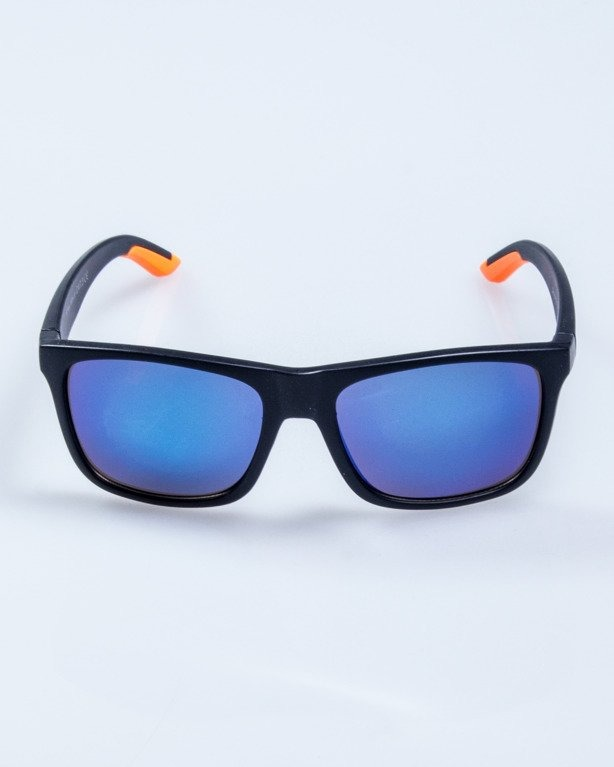 OKULARY FINISH BLACK-ORANGE MAT BLUE MIRROR 582