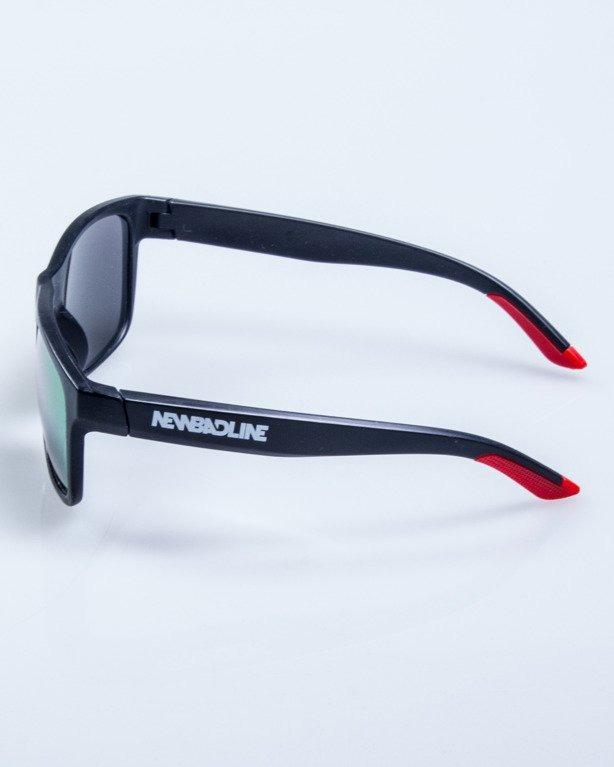 OKULARY FINISH BLACK-RED MAT RED MIRROR 580