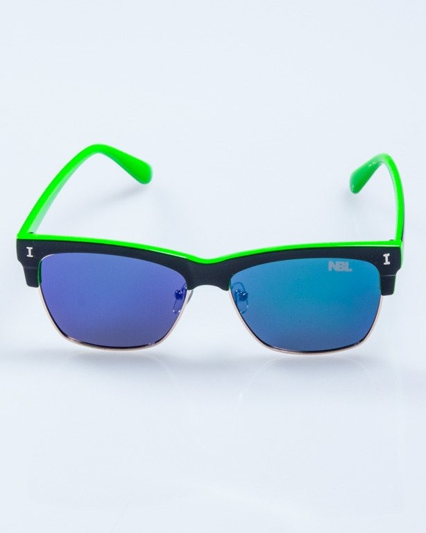 OKULARY FLAT BLACK-GREEN FLASH GREEN MIRROR POLARIZED 531