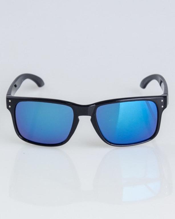 OKULARY FREESTYLE BLACK FLASH BLUE MIRROR 1315