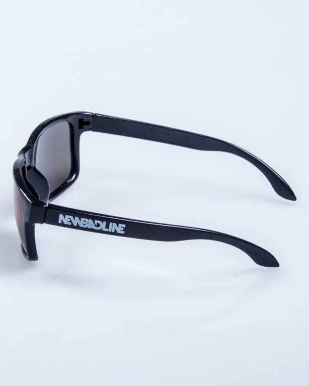 OKULARY FREESTYLE BLACK FLASH BLUE MIRROR 596