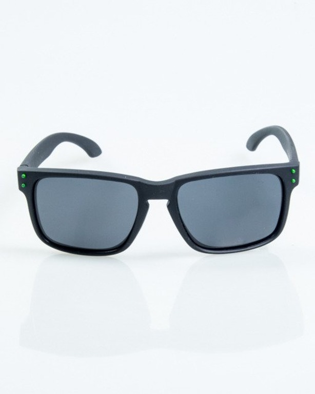 OKULARY FREESTYLE BLACK-GREEN DOTS RUBBER BLACK POLARIZED 1071