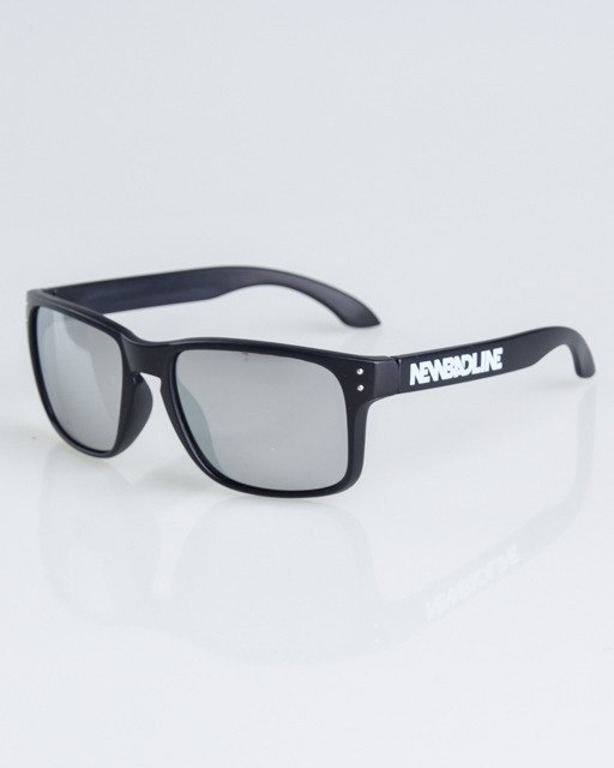 OKULARY FREESTYLE BLACK MAT SILVER MIRROR 1314