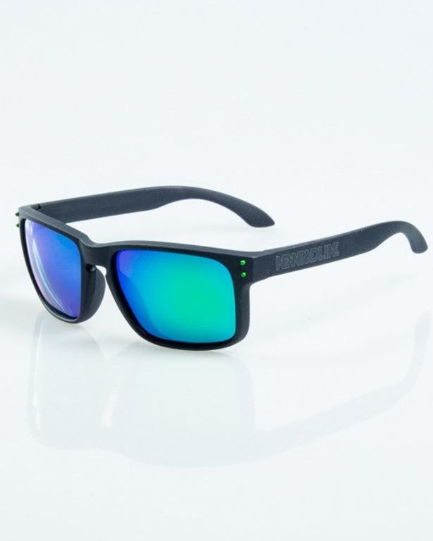 OKULARY FREESTYLE BLACK RUBBER GREEN MIRROR POLARIZED 1066