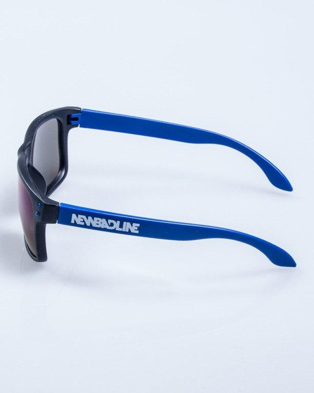 OKULARY FREESTYLE POINT BLACK-BLUE MAT BLUE MIRROR 621