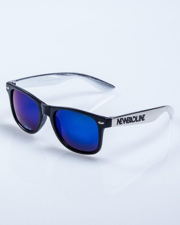 OKULARY HALF INOX BLACK-INOX MAT BLUE MIRROR 634