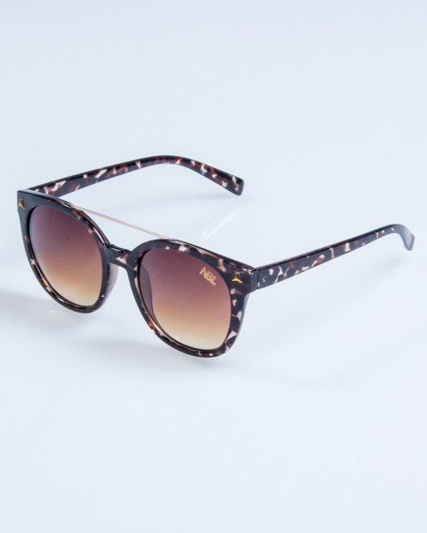 OKULARY LADY GET POINT BROWN FLASH BROWN 724