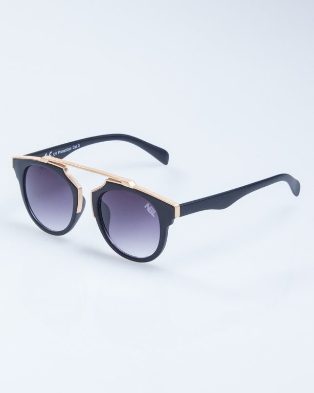 OKULARY LADY ROSH BLACK MAT-GOLD BLACK 931