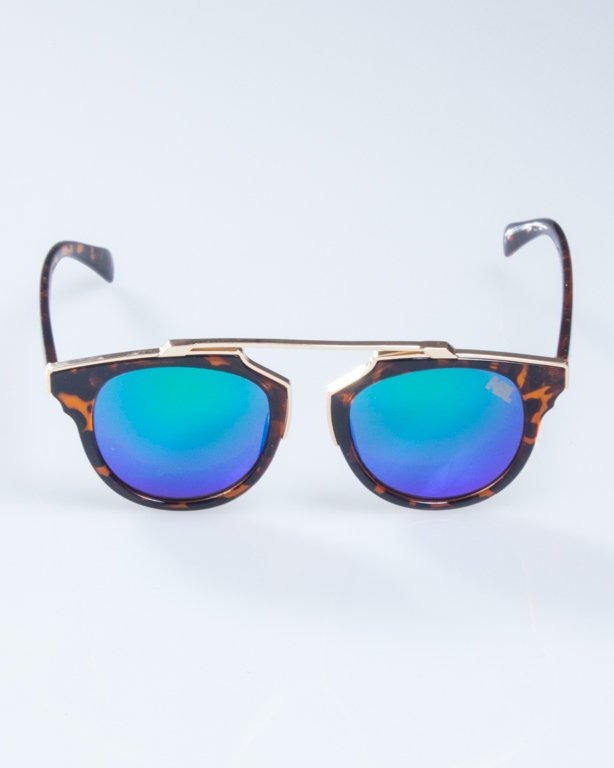 OKULARY LADY ROSH PANTERA GOLD-BROWN GREEN MIRROR 934
