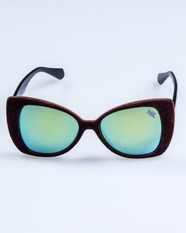 OKULARY LADY ZAMSZ BROWN BLACK YELLOW MIRROR 737