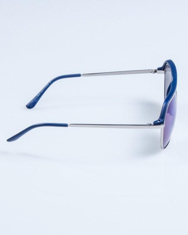 OKULARY LINES NAVY MAT BLUE MIRROR 671