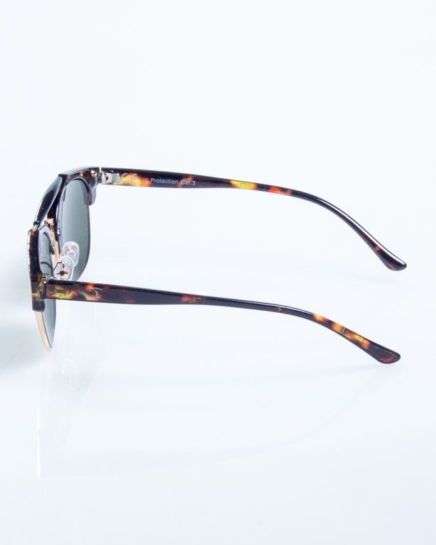 OKULARY NIGHT BROWN-YELLOW POINT GREEN 807