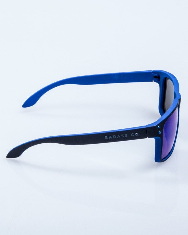 OKULARY POINT BLACK-BLUE RUBBER BLUE MIRROR POLARIZED 526