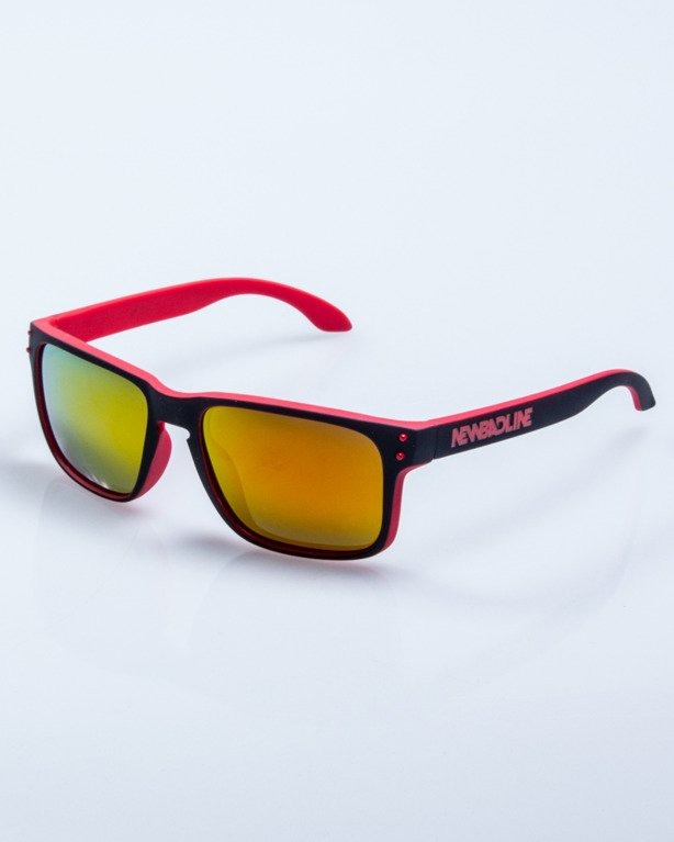OKULARY POINT BLACK-RED RUBBER RED MIRROR POLARIZED 525