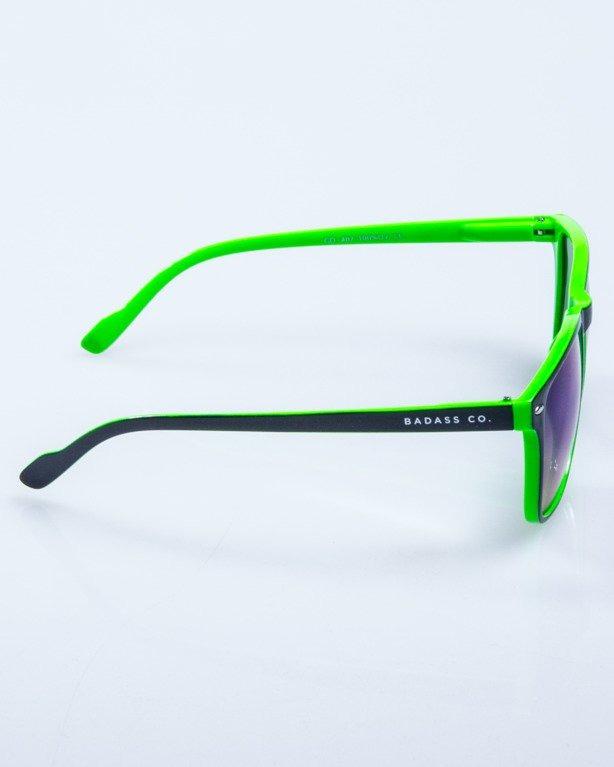 OKULARY SLIM BLACK-GREEN FLASH GREEN MIRROR 602