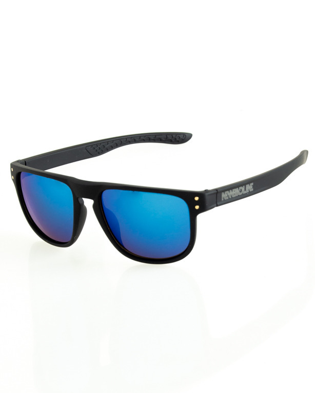 OKULARY POINT BLACK RUBBER BLUE MIRROR 185