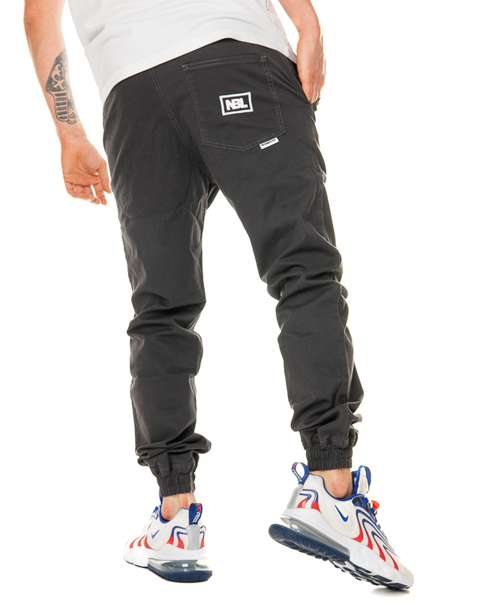 SPODNIE CHINO JOGGER ICON DARK GREY
