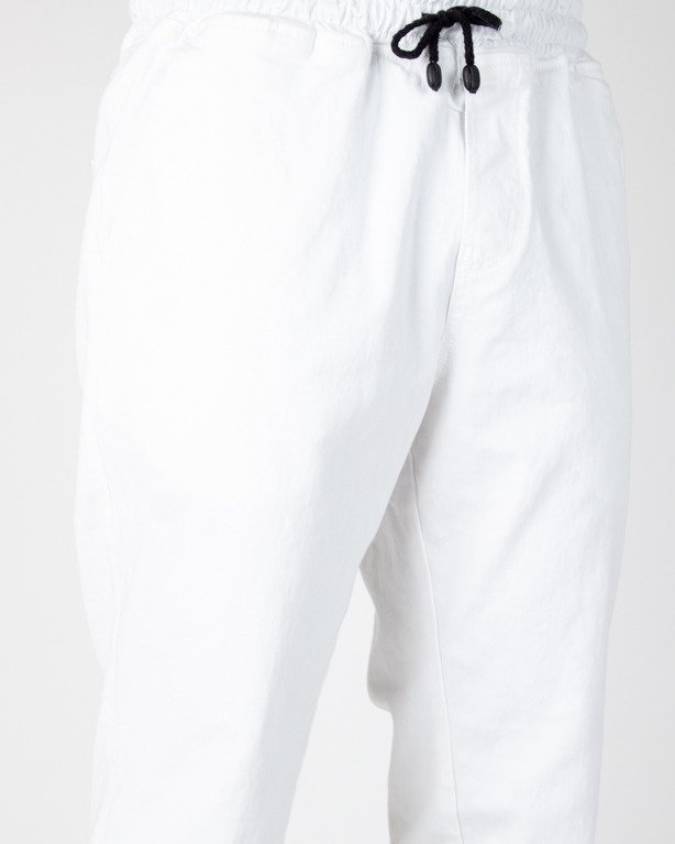 SPODNIE CHINO JOGGER ICON WHITE