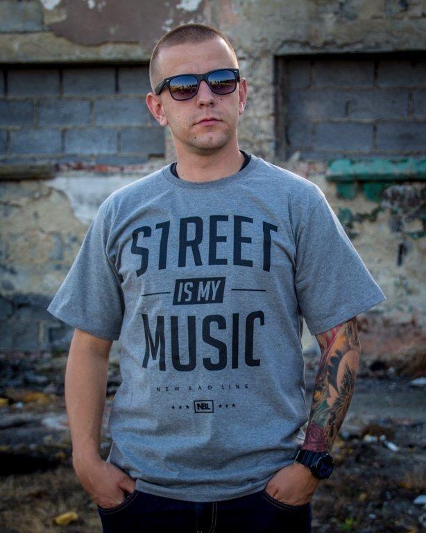 T-SHIRT STREET STREET GREY