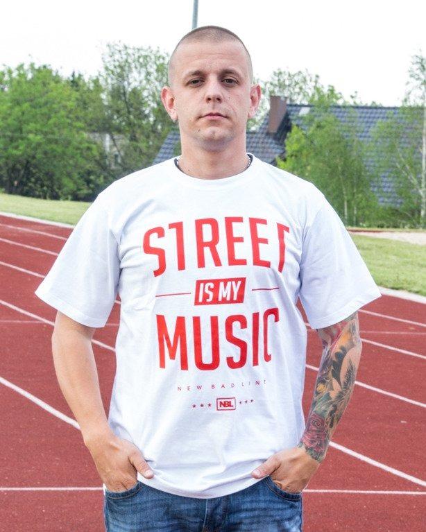 T-SHIRT STREET WHITE-RED